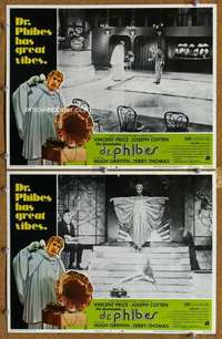 p957 ABOMINABLE DR PHIBES 2 movie lobby cards '71 Vincent Price, AIP