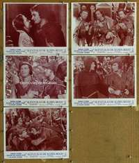 p721 ADVENTURES OF ROBIN HOOD 5 Spanish/U.S. movie lobby cards R60s Errol Flynn