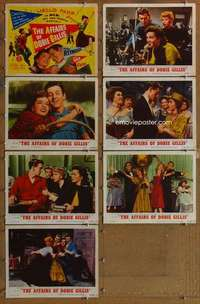 p485 AFFAIRS OF DOBIE GILLIS 7 movie lobby cards '53 Debbie Reynolds