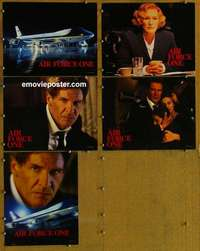 p722 AIR FORCE ONE 5 movie lobby cards '97 Harrison Ford, Glenn Close