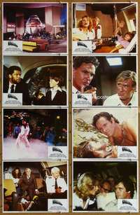 p091 AIRPLANE 8 int'l movie lobby cards '80 Lloyd Bridges, Nielsen