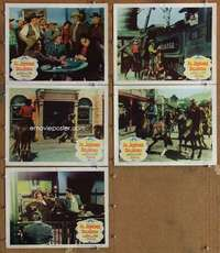 p723 AL JENNINGS OF OKLAHOMA 5 movie lobby cards '50 Dan Duryea, Storm