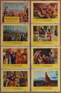 p094 ALEXANDER THE GREAT 8 movie lobby cards '56 Richard Burton, March