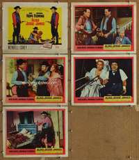 p724 ALIAS JESSE JAMES 5 movie lobby cards '59 Bob Hope, Rhonda Fleming