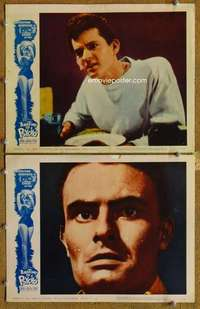 p959 ANATOMY OF A PSYCHO 2 movie lobby cards '61 wild close up!