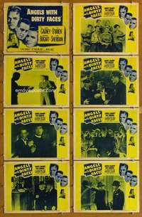 p102 ANGELS WITH DIRTY FACES 8 movie lobby cards R56 Cagney, Bogart