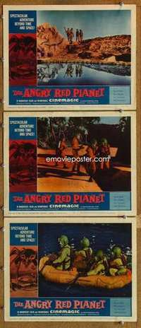 p909 ANGRY RED PLANET 3 movie lobby cards '60 Gerald Mohr, AIP sci-fi!
