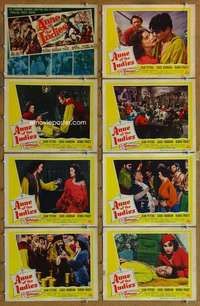 p103 ANNE OF THE INDIES 8 movie lobby cards '51 Jean Peters, Paget