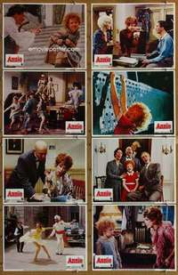 p104 ANNIE 8 movie lobby cards '82 Finney, Aileen Quinn, Burnett