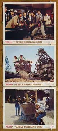 p910 APPLE DUMPLING GANG 3 movie lobby cards '75 Disney, Tim Conway