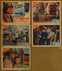 p728 ARIZONA FRONTIER 5 movie lobby cards '40 Tex Ritter, Slim Andrews