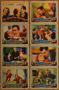 p110 AS GOOD AS MARRIED 8 movie lobby cards '37 Doris Nolan, John Boles