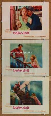 p911 BABY DOLL 3 movie lobby cards '57 Carroll Baker, sex classic!