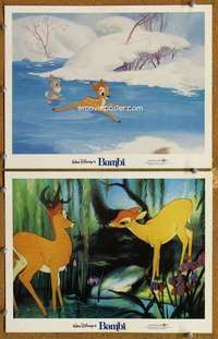 p962 BAMBI 2 movie lobby cards R82 Walt Disney cartoon classic!