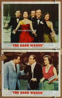 p963 BAND WAGON 2 movie lobby cards '53 Astaire, sexy Cyd Charisse!