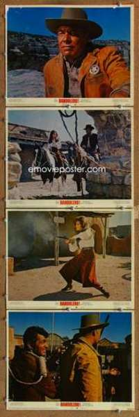 p819 BANDOLERO 4 movie lobby cards '68 Raquel Welch, Dean Martin
