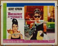 p056 BREAKFAST AT TIFFANY'S movie lobby card #6 '61 iconic Hepburn!