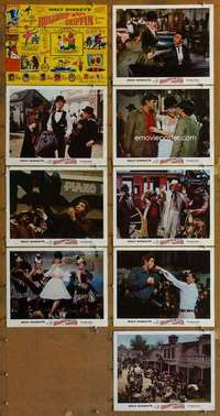 p068 ADVENTURES OF BULLWHIP GRIFFIN 9 movie lobby cards '66 Disney