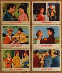 p623 CATTLE KING 6 int'l movie lobby cards '63 Robert Taylor, Loggia