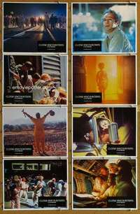 p154 CLOSE ENCOUNTERS OF THE THIRD KIND 8 movie lobby cards '77