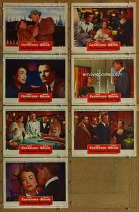 p507 DAMNED DON'T CRY 7 movie lobby cards '50 Joan Crawford, film noir!