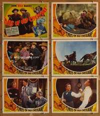 p625 DAYS OF OLD CHEYENNE 6 movie lobby cards '43 Don Red Barry