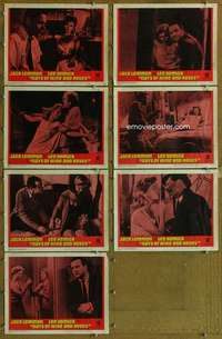 p509 DAYS OF WINE & ROSES 7 movie lobby cards '63 Jack Lemmon, Remick