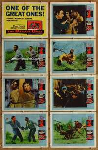 p169 DEFIANT ONES 8 movie lobby cards '58 Tony Curtis, Sidney Poitier