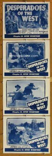 p828 DESPERADOES OF THE WEST 4 Chap 11 movie lobby cards '50 serial!