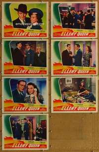 p511 DESPERATE CHANCE FOR ELLERY QUEEN 7 movie lobby cards '42 Gargan