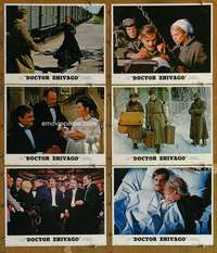 p630 DOCTOR ZHIVAGO 6 movie lobby cards R72 David Lean epic, Christie