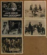 p743 DON QUICKSHOT 5 movie lobby cards '23 Jack Hoxie in Texas!