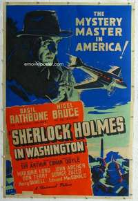 a001 SHERLOCK HOLMES IN WASHINGTON Forty by Sixty movie poster '42