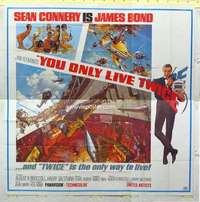 a006 YOU ONLY LIVE TWICE six-sheet movie poster '67 Sean Connery IS Bond!