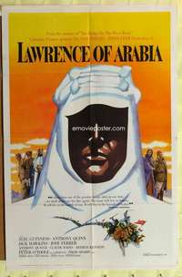 b486 LAWRENCE OF ARABIA one-sheet movie poster '62 David Lean, pre-Awards!