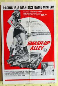 d058 43: THE RICHARD PETTY STORY one-sheet movie poster '72 Smash-Up Alley!