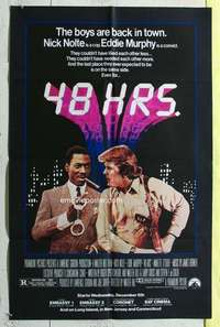d059 48 HOURS advance one-sheet movie poster '82 Nick Nolte, Eddie Murphy