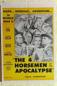 d057 4 HORSEMEN OF THE APOCALYPSE military one-sheet movie poster R60s