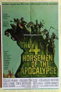 d056 4 HORSEMEN OF THE APOCALYPSE style B one-sheet movie poster '61