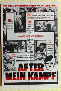 d067 AFTER MEIN KAMPF one-sheet movie poster '61 the real uncensored Hell!