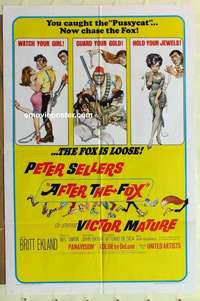 d068 AFTER THE FOX one-sheet movie poster '66 Peter Sellers, Frazetta