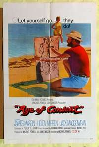 d069 AGE OF CONSENT int'l one-sheet movie poster '69 Michael Powell, Mason