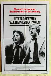 d073 ALL THE PRESIDENT'S MEN one-sheet movie poster '76 Hoffman, Redford