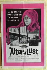 d074 ALTAR OF LUST one-sheet movie poster '71 Roberta Findlay, Harry Reems