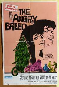 d004 ANGRY BREED one-sheet movie poster '68 bikers buck the establishment!