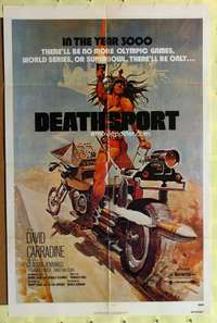 d009 DEATHSPORT one-sheet movie poster '78 David Carradine, sci-fi image!