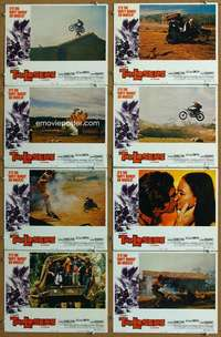 d026 LOSERS 8 movie lobby cards '70 it's The Dirty Bunch on wheels!