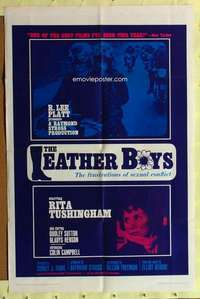 d022 LEATHER BOYS one-sheet movie poster '66 English motorcycle classic!