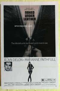 d029 NAKED UNDER LEATHER one-sheet movie poster '70 Marianne Faithfull
