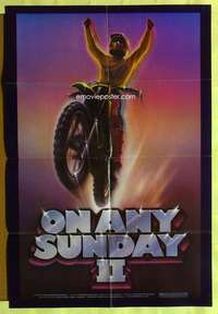 d030 ON ANY SUNDAY 2 one-sheet movie poster '81 cool dirtbike motocross!